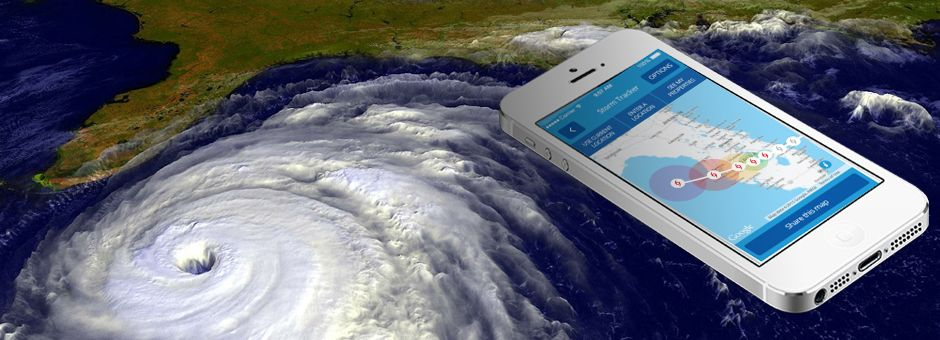 Security First Insurance's mobile app hurricane tracker