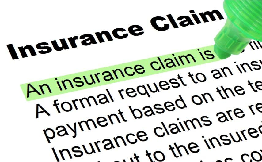 image of text highlighted from a draft insurance claim