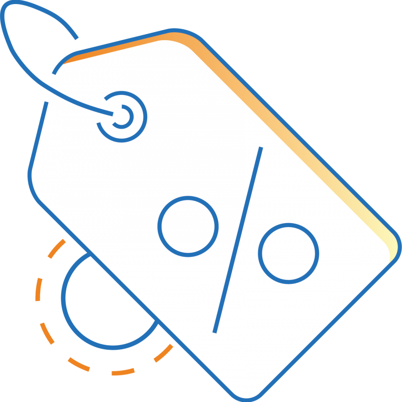 An illustration of a discount tag
