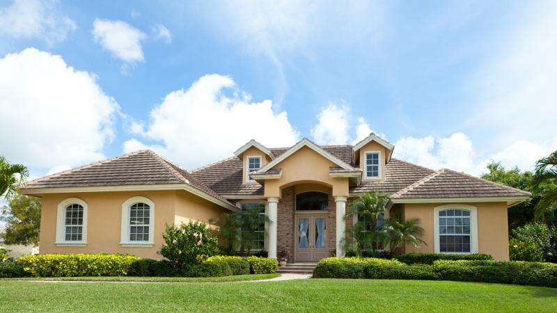 A newly-built home in Florida